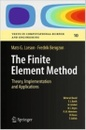 Tapa del libro The Finite Element Method: Theory, Implementation, And Applications (texts In Computational Science